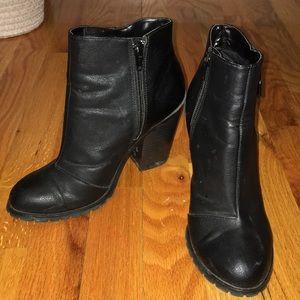 Black Zippered Booties